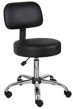 Boss Caressoft Medical Stool Dental Assistant Chair Swivel with Backrest, Wheels