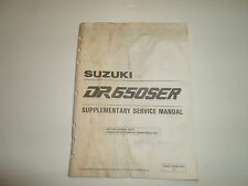 1994 Suzuki DR650SER Supplementary Service Manual WATER DAMAGED FACTORY OEM DEAL