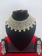 Indian Bollywood Designer Gold Plated Fashion Bridal Jewelry Necklace Set