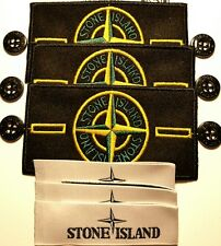 3x Genuine stone island badge sets with buttons labels