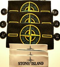 3x Genuine stone island badge sets with buttons and collar labels @sale@