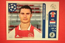 PANINI CHAMPIONS LEAGUE 2011/12 N. 258 BOERRIGTER AJAX WITH BACK BACK MINT!!