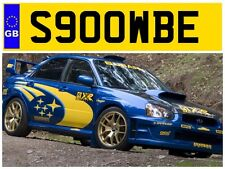 S900 WBE SUBARU SCOOBY STI WRX IMPREZA TURBO SCOOBIE PRIVATE NUMBER PLATE GROWL