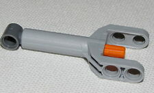 LEGO NEW TECHNIC GREY AND ORANGE LINEAR ACTUATOR TRUCK FORK PIECE