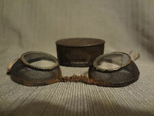 Antique Civil War Soldier Shooting Artillery Gunner Protective Tin Glasses