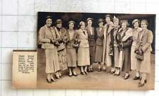 1937 British Women Hockey Players St Pancras Leaving For Australia