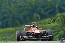 """Formula uno F1 Driver MAX Chilton HAND SIGNED PHOTO 12x8 """"ad"""