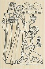 CHRISTMAS Three Wise Men Gifts Wood Mounted Rubber Stamp STAMPENDOUS P272 New