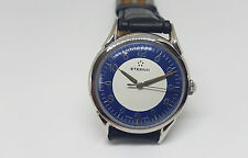 RARO USATO VINTAGE Eterna Twotone Blue & White Quadrante Manuale Vento Man's Watch