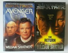 star trek books - star trek by william shatner X2