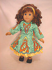 """Doll Clothes AG 18"""" Irish Dance Dress 6-Pc Green Made To Fit American Girl Dolls"""
