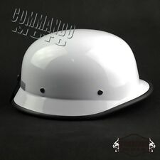 German Style Motorcycle Half Open Face Helmet Crash Helmet Hard Hat Cap White
