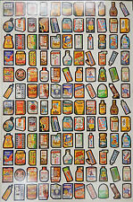 1979 Topps Wacky Packages Series 1 Uncut Sticker Sheet (132)  one sticker is off