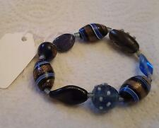 BRACELET BEAUTIFUL GLASS BEAD BRACELET  NEW -BEAUTIFUL.GIFT IDEA