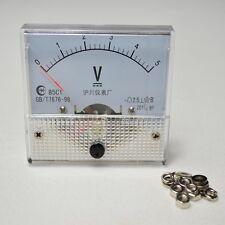 Analog Volt Voltage Panel Meter Voltmeter  0~5V DC 85C1New