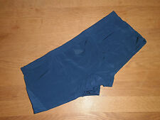 Men's Medio Sexy Senza Cuciture Blu Nylon Spandex Boxer Retro Completa Gay UK