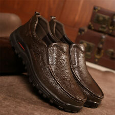 Men's Genuine Leather Breathable Slip On Loafers Oxfords Outdoor Casual Shoes