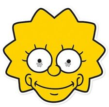 Lisa Simpson from The Simpsons Single Card Face Mask. Great at Themed Parties!