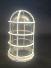 MID CENTURY MODERN INDUSTRIAL PYLE EXPLOSION PROOF LAMP PARTS GLASS CAGE CEILING
