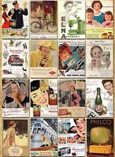 Lot of 32 Postcards Vintage Retro Advertising old time Memories Post Cards V1