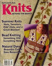 INTERWEAVE KNITS Summer 1997 Beaded Bags Kids Hats Grapevine Vest Dyeing