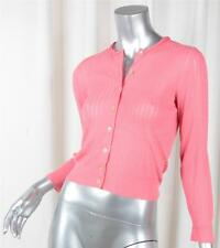 MARC JACOBS $650 Womens Coral Pink Cashmere Silk Cardigan Top Sweater S NEW NWT