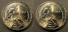 2017 P D Native American Sacagawea Dollar Set 2 Brilliant Uncirculated Bag Coins