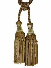 "Decorative Drapery Curtain Tieback ANTIQUE GOLD Shades 7"" Tassel 27"" Spread"