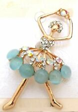 Ladies/Girls Crystals Balerina Crystal Rhinestone Brooch new