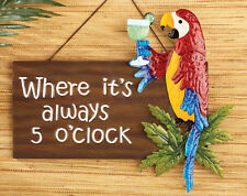 "Jimmy Buffet ""Five O'Clock Somewhere"" Indoor/Outdoor Hanging Wall Sign"