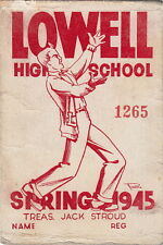 LOWELL HIGH SCHOOL ~ 1945 BASKETBALL CARD ~ JACK STROUD ~ NY GIANTS GUARD
