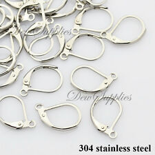20 x 304 stainless steel earring hooks 10 pairs lever back earrings findings