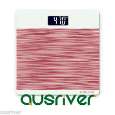 Brand New Red High Precision Electronic Digital Glass Body Bathroom Scale 150KG