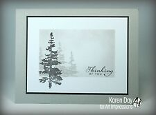 Mountain Fir Tree (U get photo #2) L@@K @examples ART IMPRESSIONS RUBBER STAMPS