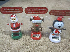 Solar Dancing Penguin, Santa and Reindeer  set of 3 new
