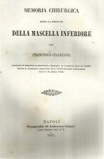 MEDICINA_CHIRURGIA DELLA MASCELLA_CIANFLONE_NAPOLI_VALLO ROTONDO_RARA EDIZIONE