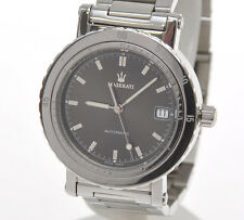 Maserati official Timepiece steel automatic watch Mov. ETA 2824-2, unused mint