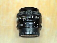 Nikon Lens AF NIKKOR 50mm 1:1.4D free ship