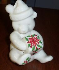 Lenox Holiday Annual China Jewels Bear Holding Package Made in USA 1995