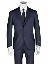 Ermenegildo Zegna Suit  36 R  NAVY new Cloth 100% Wool Sartorial made in italy