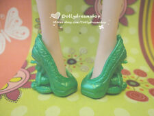Doll Shoes~Mattel Monster High Green Heel Shoes 1pair #MS-546