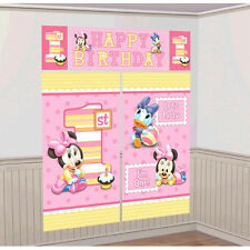 Disney Minnie1st Birthday Wall Decoration Poster Scene Setter Party Favor Supply