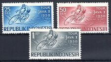 Indonesia - 1958 Cycling - Mi. 229-31 MNH