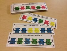 Bear Counters Pattern Card - 40 cards set laminated - Homeschoolers