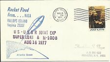 ROCKET FIRED US-USSR JOINT EXP SUPER LOKI WALLOPS ISLAND, VA 8/16/77