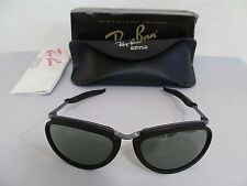 Vintage B&L Ray Ban Orbs Combo Oval Matte Black Grey W2383 Aviator Sunglasses
