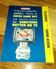 Nintendo super game boy publicité notice snes original excellent état