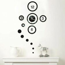 Circle DIY Wall Clock Removable Decal Vinyl Art Mirror Wall Sticker Home Decor