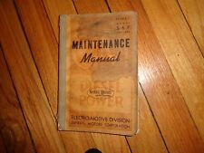Model 567 Engines Maintenance Manual General Motors Electro-Motive Division