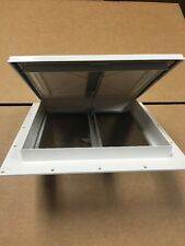 "NEW WHITE 9"" X 9"" MINI ROOF VENT RV BATHROOM POP-UP CARGO TRAILER HENG'S"